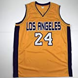 Unsigned Kobe Bryant #24 Los Angeles LA Yellow