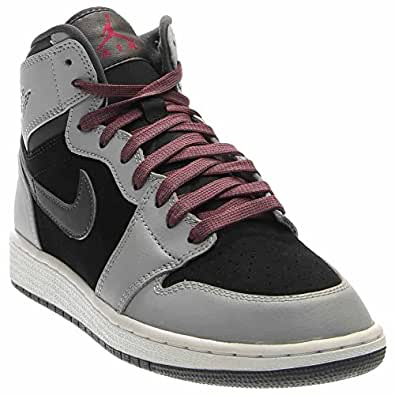 b91f06e879a92 Amazon.com: Jordan Jordan Retro 1 High Youth US 6.5 Gray Sneakers ...