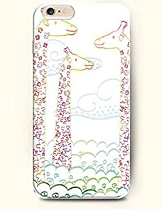OOFIT Apple iPhone 6 Case 4.7 Inches - Three Giraffes and Cloud