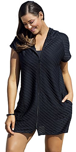 swimsuitsforall Womens Waffle Front Hoodie product image
