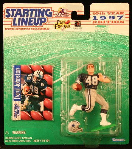 Starting Lineup Daryl Johnston / Dallas Cowboys 1997 NFL Action Figure & Exclusive NFL Collector Trading Card