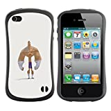 Apple Iphone 4 / 4S - iFace Series Soft Tpu Skin Bumper Case Cover (Forearms Bodybuilder Funny Man Strong)
