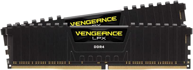 CORSAIR CMK16GX4M2Z3600C18 VENGEANCE LPX DDR4 3600 (PC4-28800) C16 1.35V Desktop Memory, Black, 16GB (2 x 8GB)