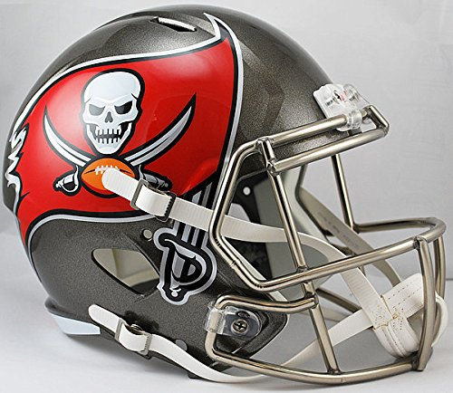 Riddell NFL Tampa Bay Buccaneers Replica Speed Full Size Football Helmet (Replica Football Bay Tampa Helmet Buccaneers)
