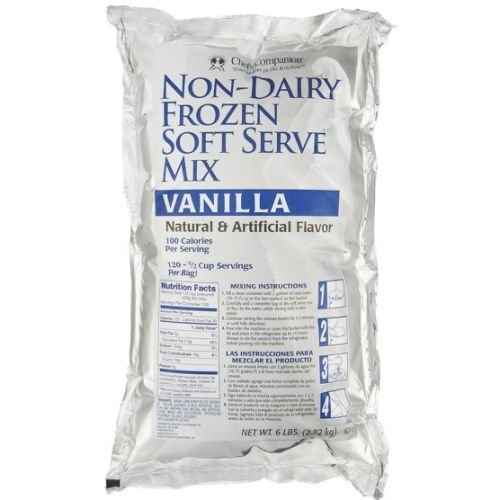 Chefs Companion Vanilla Non Dairy Special Soft Serve Mix, 6 Pound -- 6 per case.
