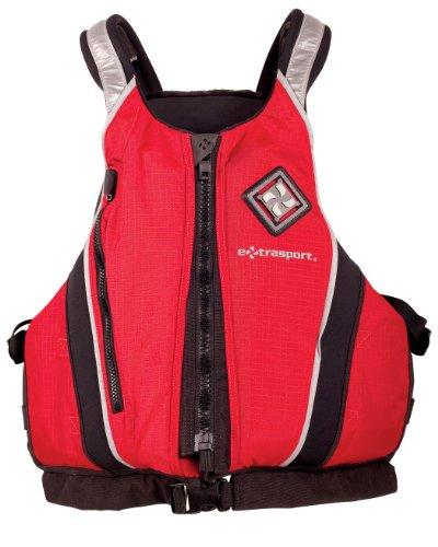 Extrasport Canoe (Extrasport Pro Caster Canoe/Kayak Rafting Fishing Personal Flotation Device/Life Jacket, Red/Black,)