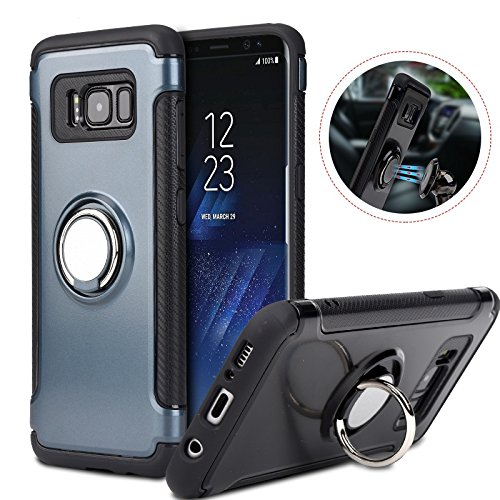 LXBIN Case ForS8 Plus Car Holder Stand Magnetic Suction Bracket Finger Ring Phone Coque Cover For iPhone 7 7 Plus iPhone 6S 6 Plus SE Red Samsung Galaxy S7