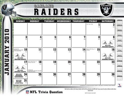 2011 Oakland Raiders - Blotter Calendar (Raiders Calendar)