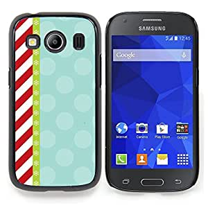 Stuss Case / Funda Carcasa protectora - Rouge Candy White Stripes Motif Retro - Samsung Galaxy Ace Style LTE/ G357