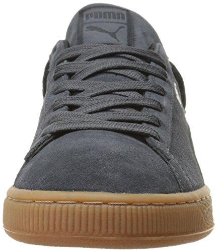 Puma Mens Mocka Stjärnor Mode Sneakers Mörk Skugga / Svart