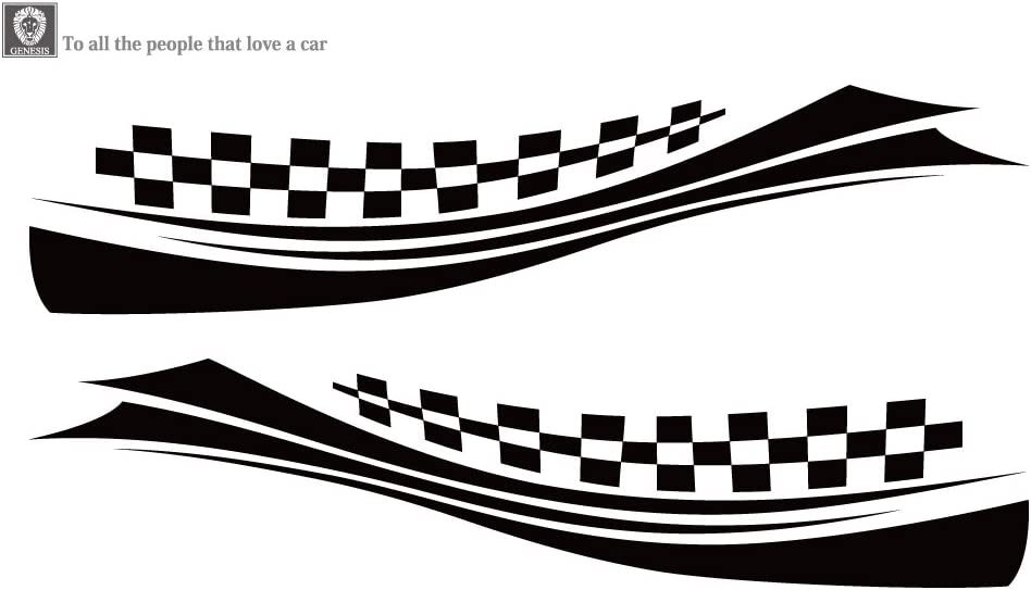 CHECKER DECAL GRAPHICS FOR BOAT SIDES X-LONG version FREE SHIPPING