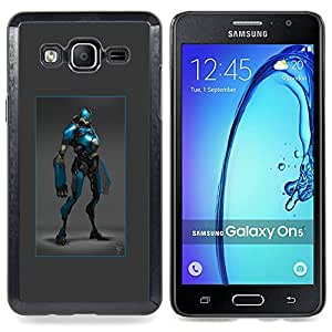 - Hero Blue Black Robot Costume Comic Character - - Snap-On Rugged Hard Cover Case Funny HouseFOR Samsung Galaxy On5 SM-G550FY G550