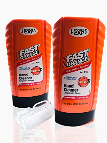 waterless-hand-cleaner-for-mechanics-fast-orange-pumice-lotion-pack-of-2-with-nail-brush-3-item-bund