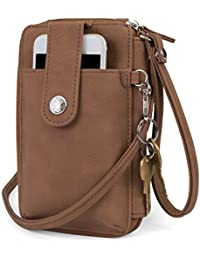 Jacqui Vegan Leather RFID Womens Crossbody Cell Phone...