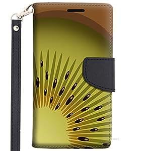 Samsung Galaxy S6 Wallet Case - Cute kiwi Slice