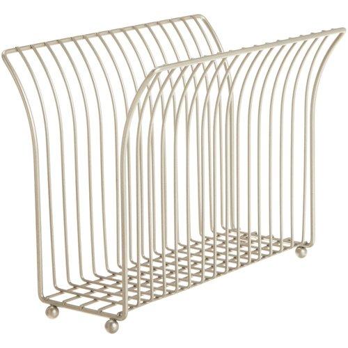 HomyDelight Free Standing Magazine Rack - Satin Nickel 4 lbs 11.75