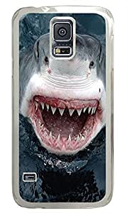 retro Samsung Galaxy S5 cover Jaws Animal PC Transparent Custom Samsung Galaxy S5 Case Cover