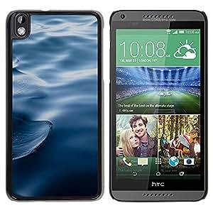 Be Good Phone Accessory // Dura Cáscara cubierta Protectora Caso Carcasa Funda de Protección para HTC DESIRE 816 // Waves Ripples Water Blue Deep Ocean