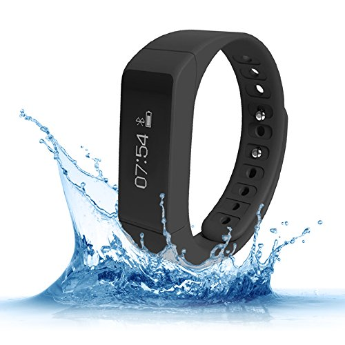 Price comparison product image Fitness Trackers, Teslasz I5 plus IP65 Water-resistant Pedometer Bluetooth 4.0 Sleep Monitor Activity Tracker for Android and IOS Smart Phone, Black