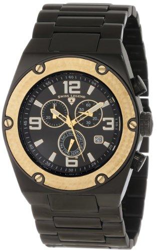 Swiss Legend Men's 40025P-BB-11-GB Throttle Chronograph Black Dial Watch