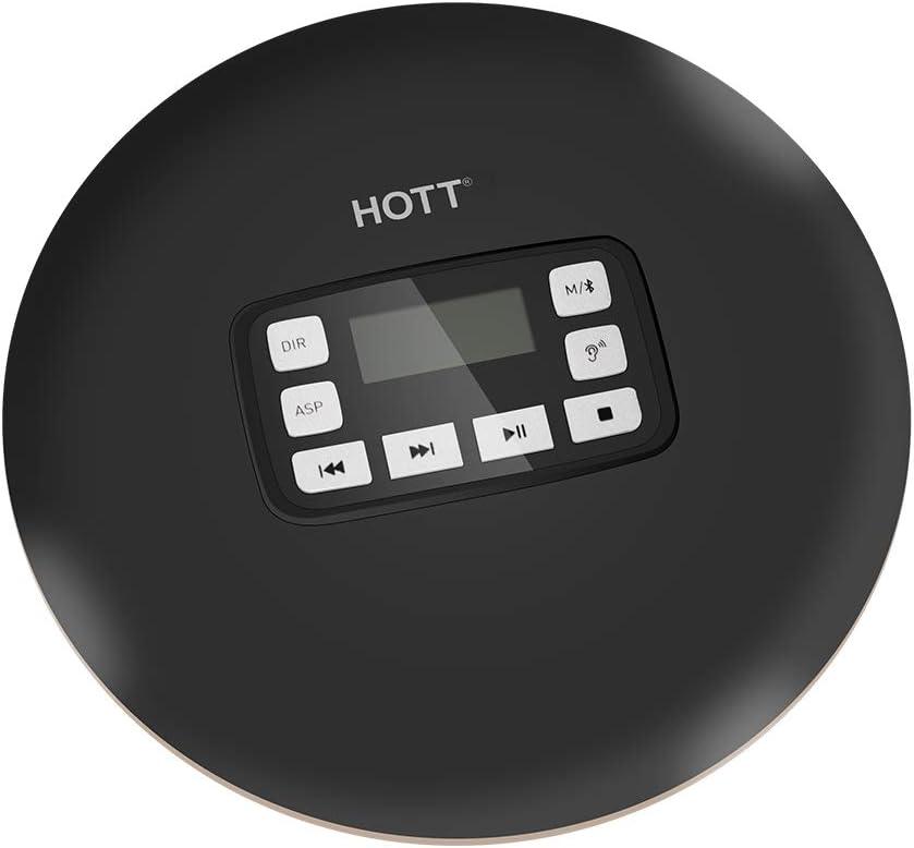Zerama Portable antichocs CD611T LCD sans Fil Bluetooth Lecteur CD Affichage Anti-Shock CD Music Player Car BT Musique