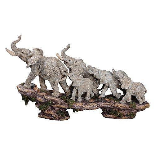 (Comfy Hour Elephant Family on Cliff Figurine,)
