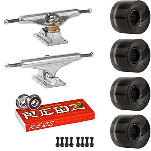 集団手錠内訳スケートボードキットIndy 169 Trucks OJ Mini Juice 55 mmホイールトランスブラックSuper Reds