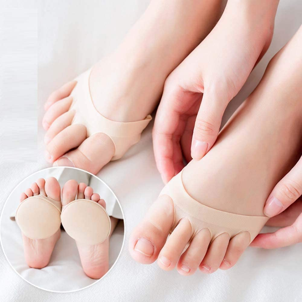 Honeycomb Fabric Forefoot Pads For Women Foot pad Beige, 3 Paare Ladies High Heel Shoe Pad