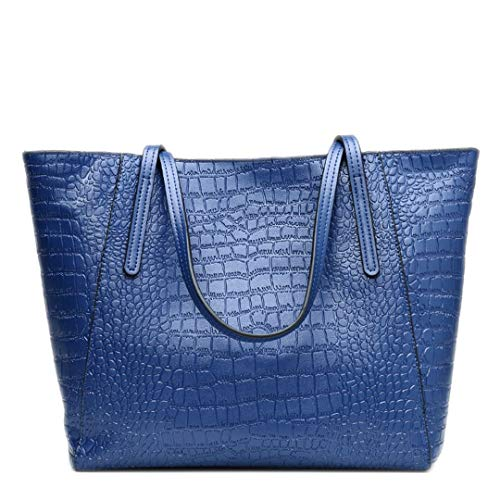 cuir Blue femmes de en à style véritable pour Sacs cuir main Sacs luxe en de à bandoulière qYnwtzxUag