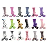BambooMN Socks - Super Soft Warm Cute Animal Non-Slip Fuzzy Crew Winter Socks