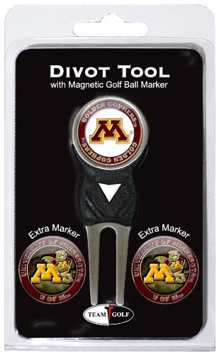 NCAA Minnesota Golden Gophers Divot Tool Pack With 3 Golf Ball Markers (Minnesota Golf Gophers)