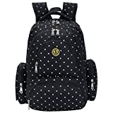 Kyпить SALE-Baby Diaper Bag Smart Organizer Waterproof Travel Diaper Backpack with Changing Pad and Stroller Clips (Black Dot) на Amazon.com