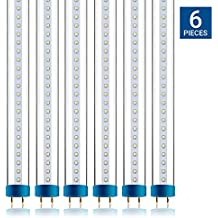 Hyperikon T8 T10 T12 4ft LED Hybrid Tube Light, Plug-and-Play, Instant Fit, Ballast Compatible or Single-End Powered Ballast Bypass, Fluorescent Replacement, 18W, Glass, 4000k, Clear - 6 Pack