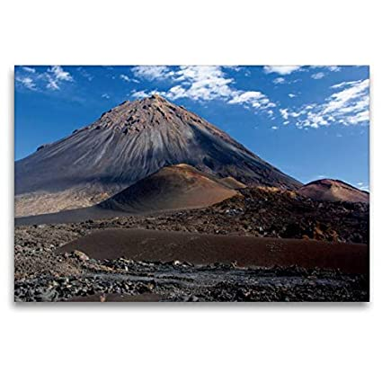 Premium Textile Canvas 120 x 80 cm Format - Fire Mountain
