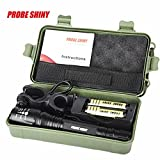 Leewa 8000LM(Max output) Zoomable Tactical XML T6 LED Flashlight+2x18650 Batteries+1xBattery Charger+1xNylon Pouch+1x360° Flashlight Holder+1xUser Manual+1xBox