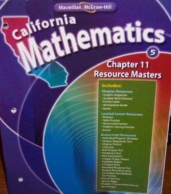 - Chapter 11 Resource Masters Grade 5 (California Mathematics, Math Connects)