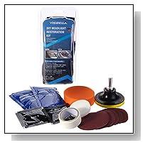 DIY Headlight Restoration Kit,Headlight Lamp Lens Cleaning Tools for Auto Car Motorcycle