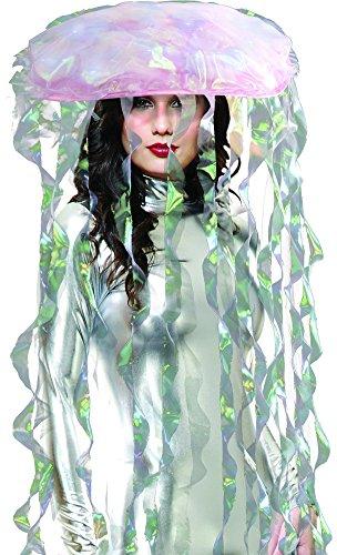 Light Up Jellyfish Costume Headware, One Size,