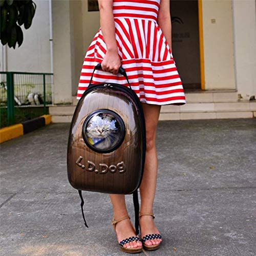 YUMUO Brown Cat Bag Pet Out Bag Portable Bag Sac à bandoulière Sac à Dos Sac Sac Cat Outer Space Warehouse