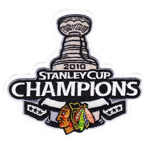 2010 NHL Stanley Cup Final Champions Chicago Blackhawks Patch