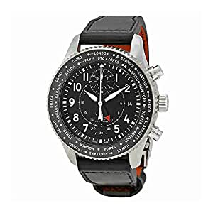 IWC Pilot Black Dial Automatic Mens GMT Watch IW395001
