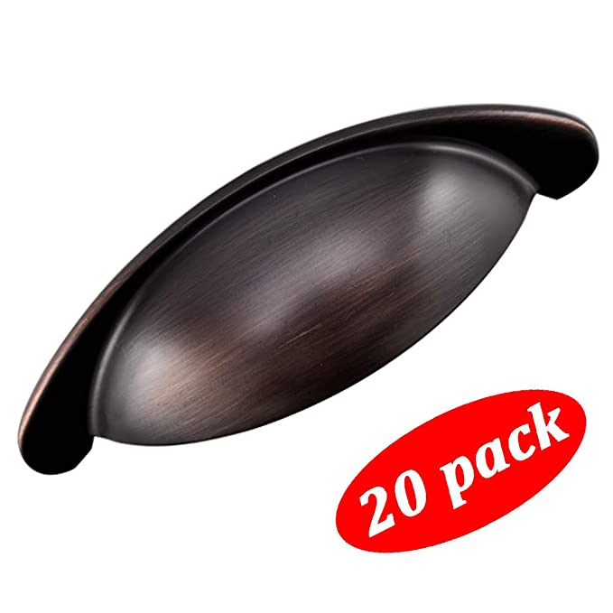 Modern Oil Rubbed Bronze Cabinet Handles, 20 Pack 3