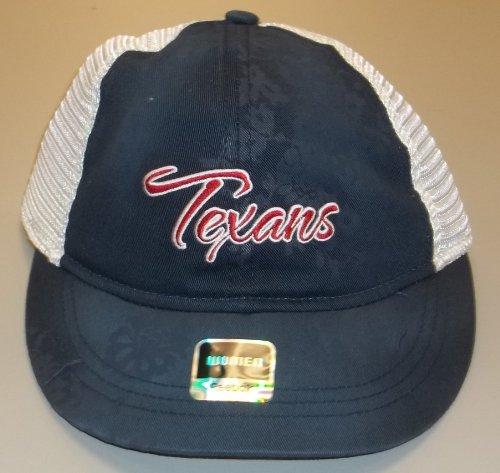 Reebok Houston Texans Ladies Navy Blue Lady Charlie Adjustable Hat (Adjustable Womens Hat Charlie)