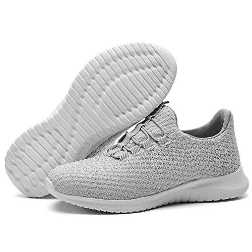 Sneakers casual grigie con allacciatura elasticizzata per donna B7CkMn0Uj