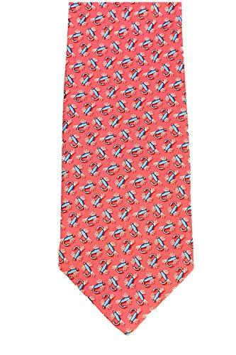 Vineyard Vines Men's Silk Tie. (Flys/Pink)
