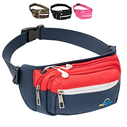 Pro Helios Premium Fanny Packs for Men Women Water Resistant Waist Bag for Outdoor Activities, Traveling, Hiking, Biking, Running More Fannie Pack for Women