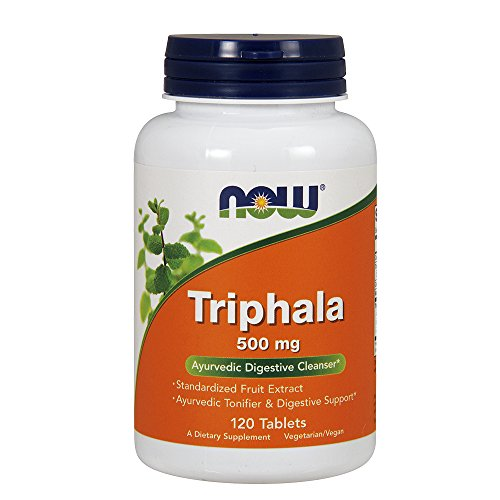 - Now Supplements, Triphala 500 mg, Combination of Harada, Amla and Behada, 120 Tablets