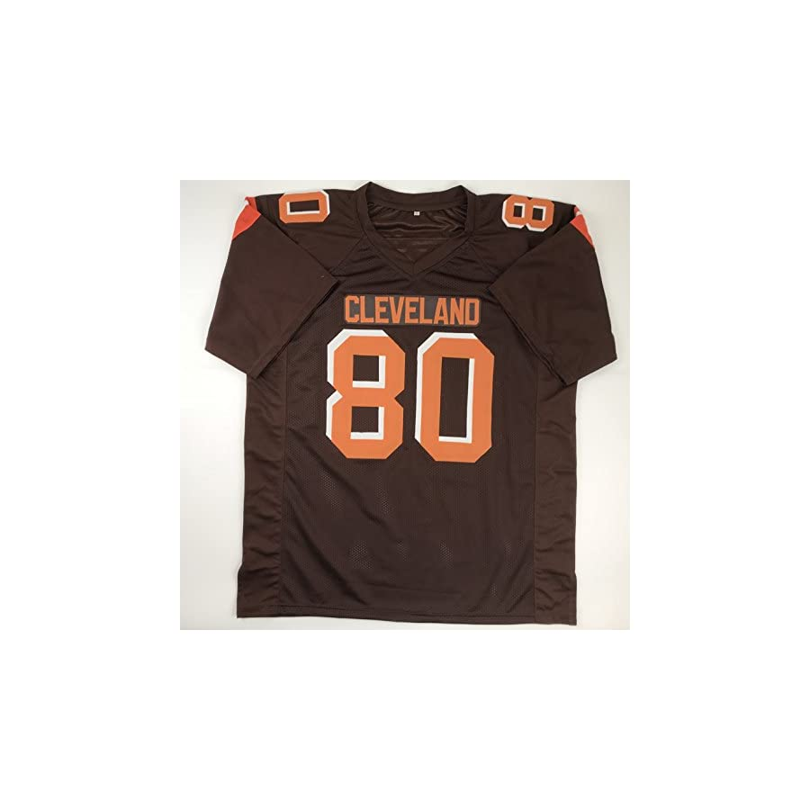Autographed/Signed Jarvis Landry Cleveland Football Brown Jersey JSA COA