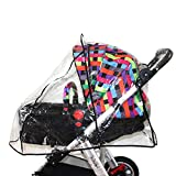 Elisona-Universal Pushchair Stroller Pram Buggy Transparent Rainproof Cover Rain Shade Protector