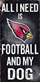 Fan Creations Arizona Cardinals Football and My Dog Sign, Multicolored
